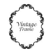 Vintage frame ornament icon Stock Illustration