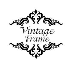 Vintage frame ornament icon Stock Illustration