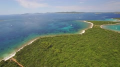 Aerial view of Veli Rat on the Adriatic island Dugi Otok - stock footage