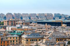 Genoa. View from above. Stock Photos