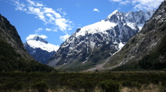 New Zealand Fiordland dramatic mountain Stock Footage
