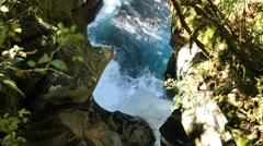 New Zealand Fiordland water in rock walls Stock Footage