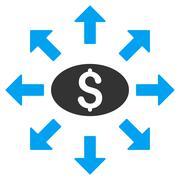 Mass Cashout Flat Vector Icon Stock Illustration