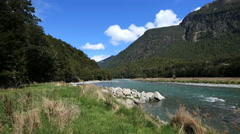 New Zealand River Fiordland National Park river Stock Footage
