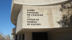 Canadian Museum of History. Hull, Gatineau, Quebec, Canada. Stock Footage