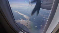 View of Prince Edward County, Ontario, Canada from plane. Stock Footage
