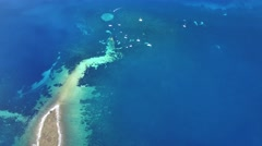 Aerial view of the sunken ship near the island Dugi otok Stock Footage