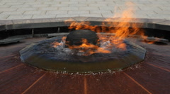 Centennial flame in front of Parliament buildings in Ottawa, Canada. Stock Footage