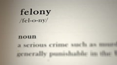 Felony Definition Stock Footage