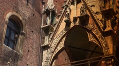 Arche Scaligere of Cansignorio,Verona, ULTRA HD 4k, real time Stock Footage