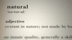 Natural Definition Stock Footage