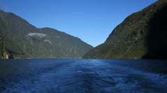 New Zealand Milford Sound view from boat Stock Footage