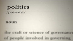 Politics Definition Stock Footage