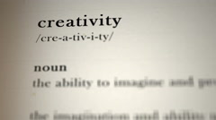 Creativity Definition Stock Footage
