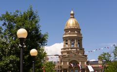 Cheyenne Wyoming Capital City Downtown Capitol Building Legislative Center Stock Photos