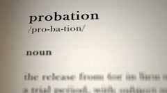 Probation Definition Stock Footage