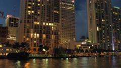 Downtown Miami at night Arkistovideo