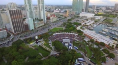 Aerial video of a concert in Miami Stock Footage