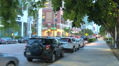 Brickell SW 1ast Avenue architecture Stock Footage