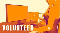 Volunteer Concept Course Stock Illustration
