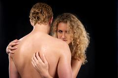 Beautiful naked couple Stock Photos