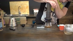 Chemex Coffee Brewing Stock Footage