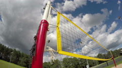 Volleyball net and basketball hoop, timelapse 4K Stock Footage