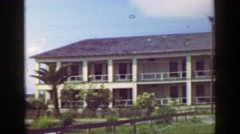 1952: Tarpon Inn hotel National Register of Historic Places on Gulf of Mexico. Stock Footage