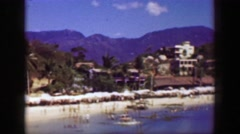 1952: Mexican beach recreation area blue waters summer tropical fun. ACAPULCO, Stock Footage