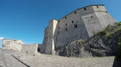 San Leo (Rimini), Italy. Medieval village. The medieval fortress. Stock Footage