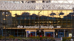 Train station Amsterdam Sloterdijk Stock Footage