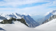 Glacier near the Mont Blanc Stock Footage