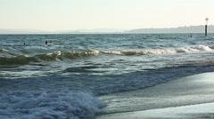 Atlantic Ocean Beach Stock Footage