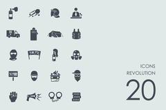 Set of revolution icons - stock illustration