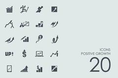 Set of positive growth icons Stock Illustration
