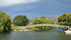 New Zealand bridge at Pisa Moorings Stock Footage