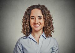 Headshot portrait happy business woman Stock Photos