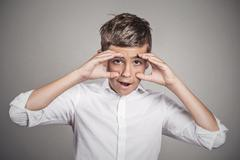 Man looking shocked, surprised in disbelief Stock Photos