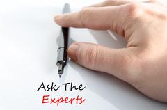 Ask the experts text concept Stock Photos