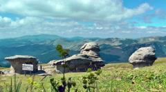 Visiting Babele, Bucegi Mountains Stock Footage