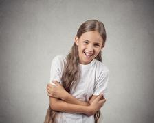 girl laughing - stock photo