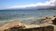 Coast of the island of Crete. Greece Stock Footage