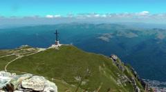 Heroes' Cross On The Caraiman Peak - stock footage