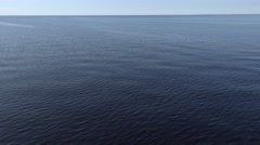 Dramatic water and sky view from cruise ship. Horizon panorama. 4K footage. Stock Footage