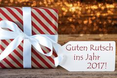 Atmospheric Christmas Gift Guten Rutsch 2017 Means New Year Stock Photos