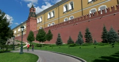 The architectural ensemble of the Museum of the Moscow Kremlin Kremlin Stock Footage