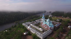 Saviour Transfiguration Cathedral, the main cathedral of the monastery.  Stock Footage