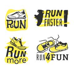 Run sport motivation vector - stock illustration
