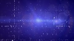 Cyberspace with digital binary code on blue background. Stock Illustration