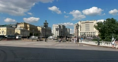 The square in the center of Moscow, Manege Square Stock Footage
